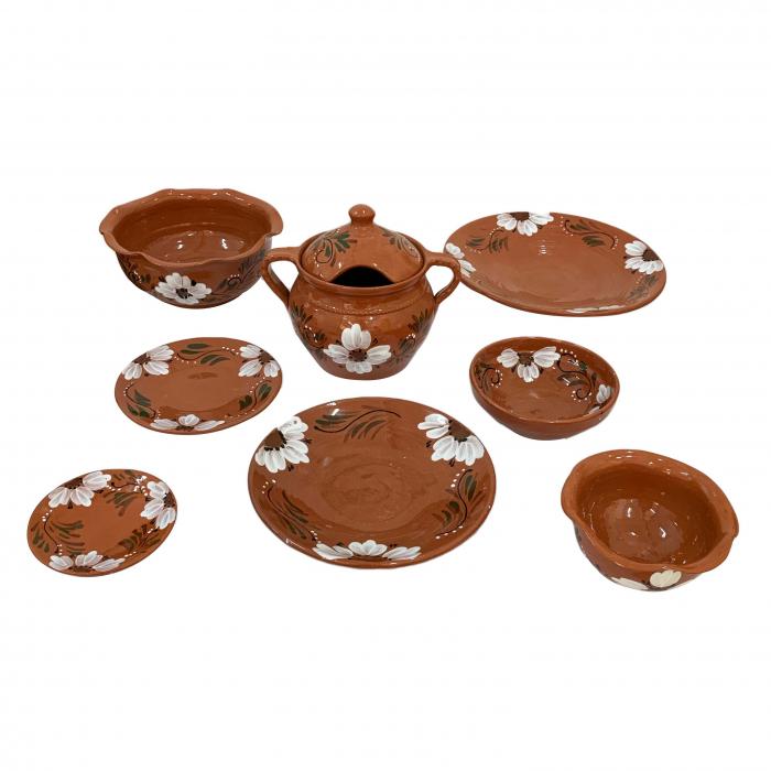 serviciu-de-masa-pentru-6-persoane-din-ceramica-de-arges-realizat-manual-argcoms-29-bucati-set-pictura-florala-6132 0