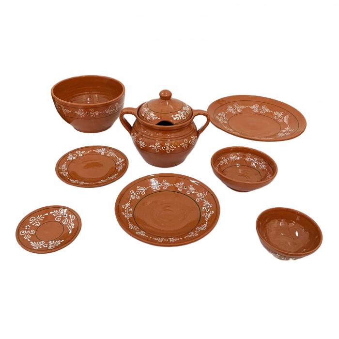 serviciu-de-masa-pentru-6-persoane-din-ceramica-de-arges-realizat-manual-argcoms-29-bucati-set-pictura-traditionala-6131 0
