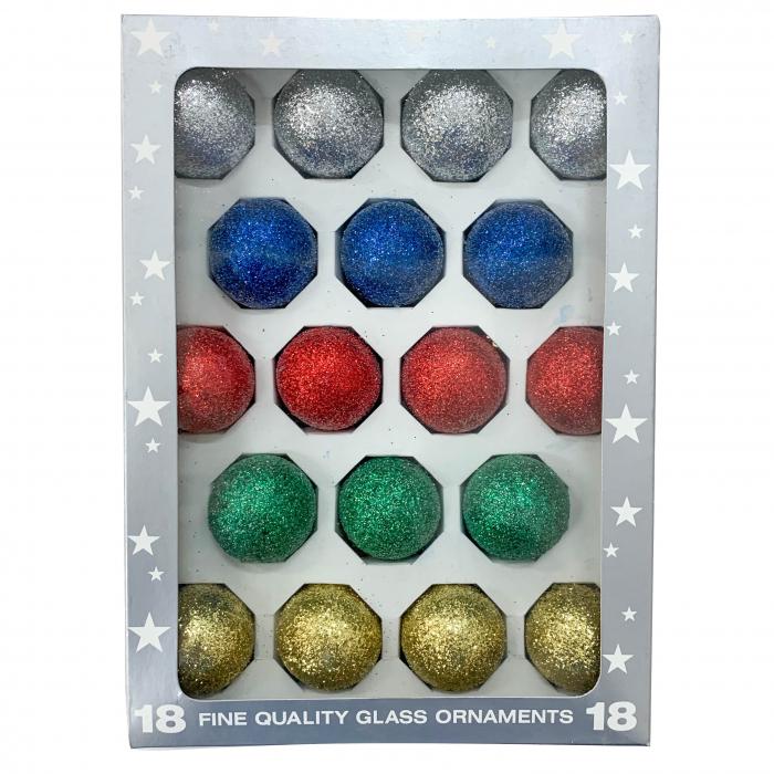 set-18-globuri-clasice-din-sticla-suflate-si-pictate-manual-argcoms-fabrica-lui-mos-craciun-multicolore-40-mm-sferice-6778 0