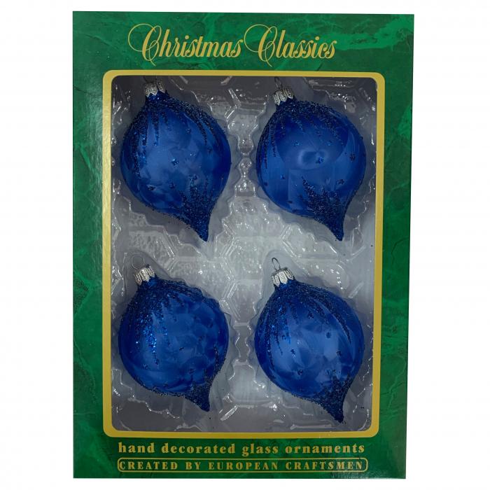 set-4-globuri-clasice-din-sticla-suflate-si-pictate-manual-argcoms-fabrica-lui-mos-craciun-flori-de-gheata-turturi-albastre-albe-rosii-70-mm-ovale-6760-6762 0