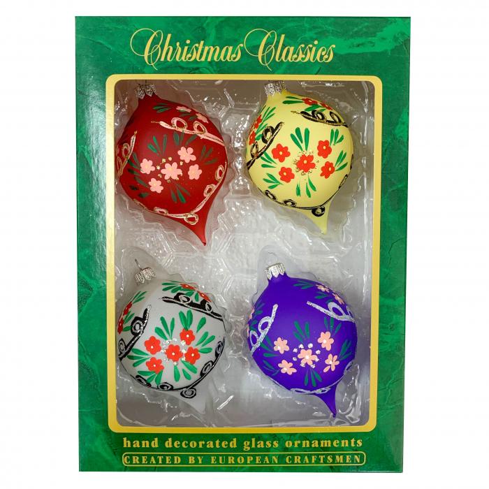 set-4-globuri-clasice-din-sticla-suflate-si-pictate-manual-argcoms-fabrica-lui-mos-craciun-model-3-multicolore-70-mm-ovale-6752 0