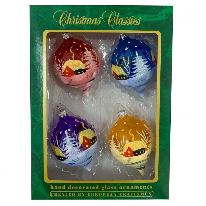 set-4-globuri-din-sticla-suflate-si-pictate-manual-argcoms-fabrica-lui-mos-craciun-peisaj-de-iarna-multicolore-70-mm-ovale-6750 0