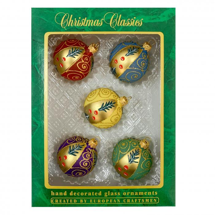 set-5-globuri-clasice-din-sticla-suflate-si-pictate-manual-argcoms-fabrica-lui-mos-craciun-model-2-multicolore-60-mm-sferice-6742 [0]