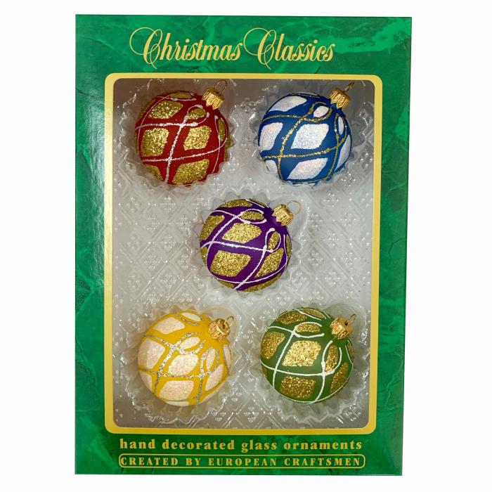 set-5-globuri-clasice-din-sticla-suflate-si-pictate-manual-argcoms-fabrica-lui-mos-craciun-model-3-multicolore-60-mm-sferice-6743 [0]