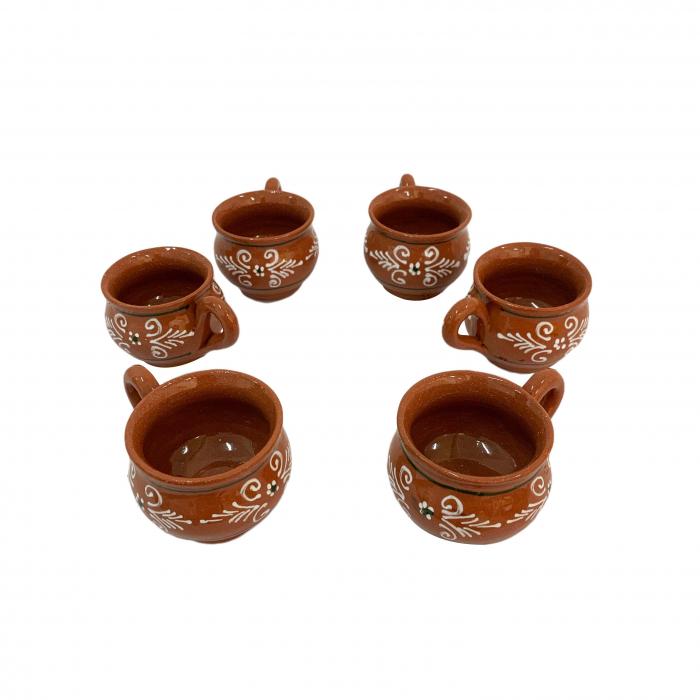 set-de-6-cesti-din-ceramica-de-arges-realizat-manual-argcoms-bauturi-calde-pictura-traditionala-6070 0