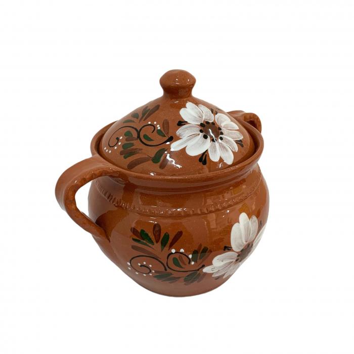 supiera-din-ceramica-de-arges-realizata-manual-argcoms-cu-capac-cu-2-toarte-pictura-florala-6153-6156 2