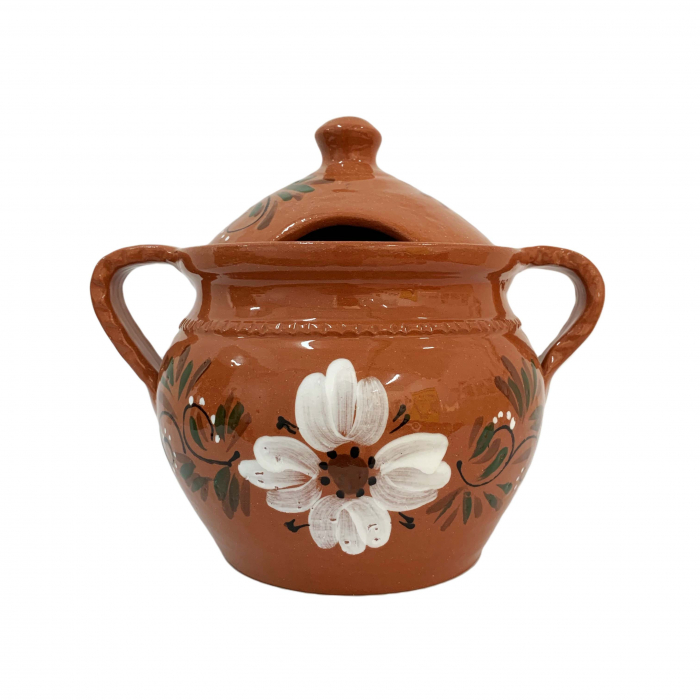 supiera-din-ceramica-de-arges-realizata-manual-argcoms-cu-capac-cu-2-toarte-pictura-florala-6153-6156 0