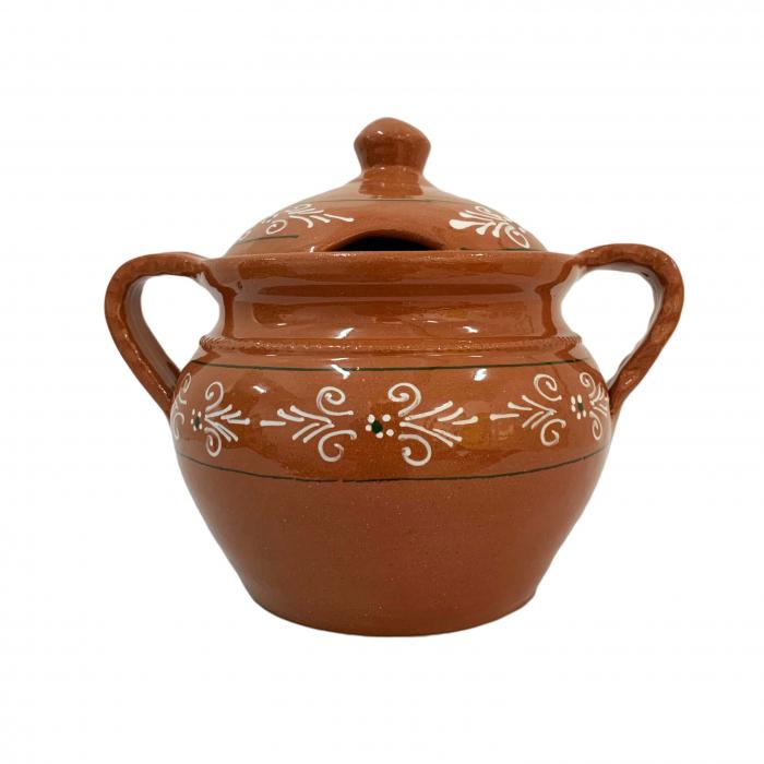 supiera-din-ceramica-de-arges-realizata-manual-argcoms-cu-capac-cu-2-toarte-pictura-traditionala-6158-6162 0