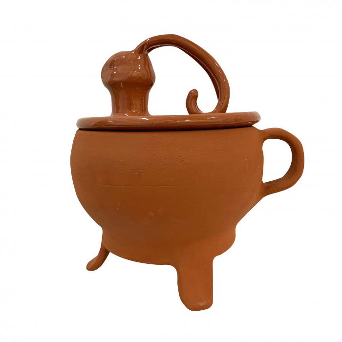 tripod-din-ceramica-de-arges-realizat-manual-argcoms-tip-ceaun-cap-de-cerb-cu-capac-format-traditional-5893-5895 0