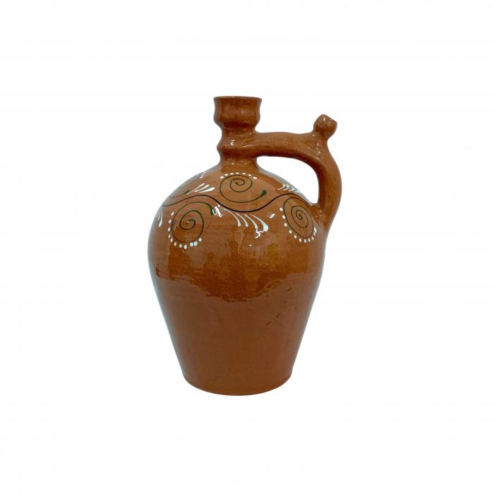 ulcior-din-ceramica-de-arges-realizat-manual-argcoms-ceremonie-apa-vin-pictura-traditionala-2-mediu-6511-6513 0