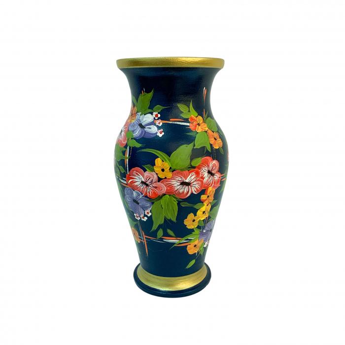 vaza-din-ceramica-de-arges-realizata-manual-argcoms-h30-silueta-clasica-1-2-inele-pictura-florala-6461-6472 3
