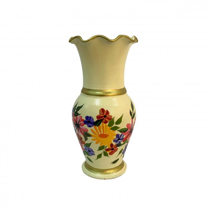 vaza-din-ceramica-de-arges-realizata-manual-argcoms-h30-silueta-cu-onduleuri-3-2-inele-pictura-florala-crem-6437-6448 2