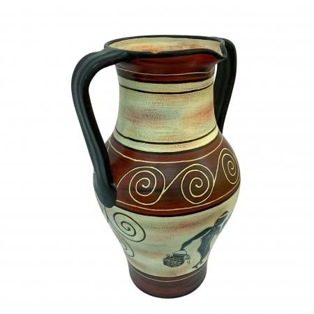Amfora din ceramica de Arges realizata manual, Argcoms, Personalizabila, Zodiac2