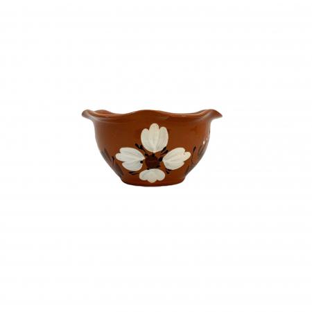 Bol din ceramica de Arges realizat manual, Argcoms, Pictura florala, Mic