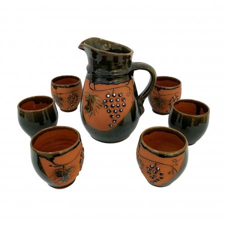 cana-cu-6-pahare-din-ceramica-de-arges-realizate-manual-argcoms-vin-tema-viticola-6008-6119 [0]
