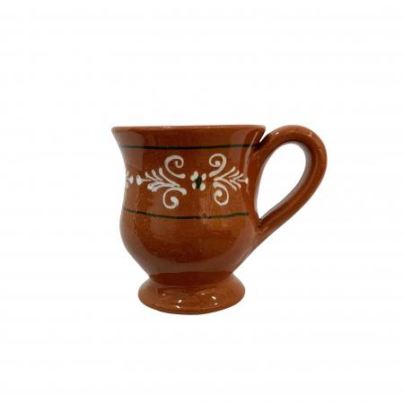 Cana din ceramica de Arges realizata manual, Argcoms, Ceai, Pictura traditionala
