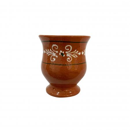 Cana din ceramica de Arges realizata manual, Argcoms, Ceai, Pictura traditionala1