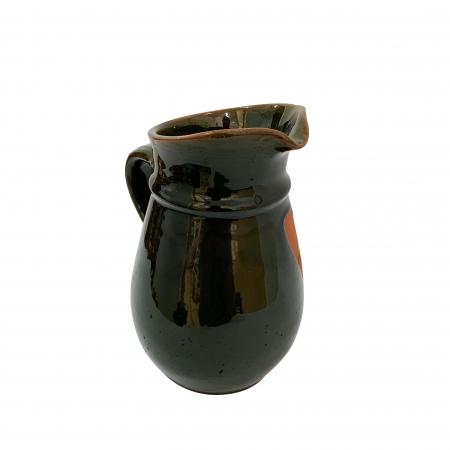 Cana din ceramica de Arges realizata manual, Argcoms, Vin, Cu cioc, Tema viticola2