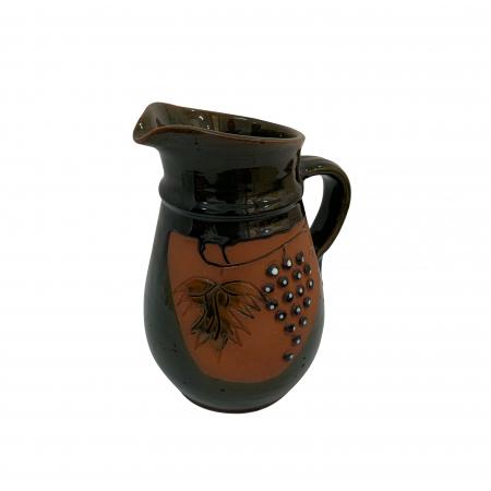 Cana din ceramica de Arges realizata manual, Argcoms, Vin, Cu cioc, Tema viticola1