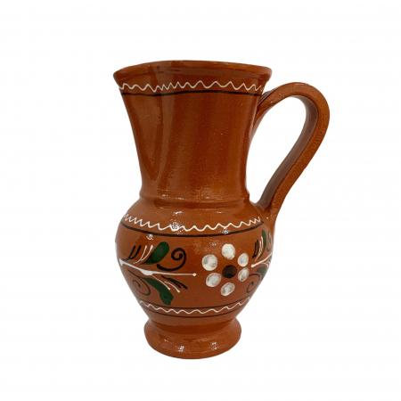 Carafa din ceramica de Arges realizata manual, Argcoms, Vin/Apa, Pelican0