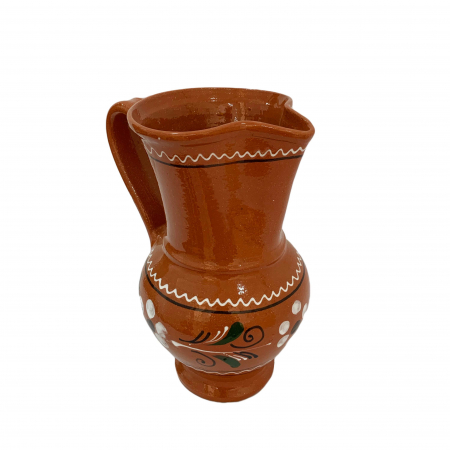 Carafa din ceramica de Arges realizata manual, Argcoms, Vin/Apa, Pelican2