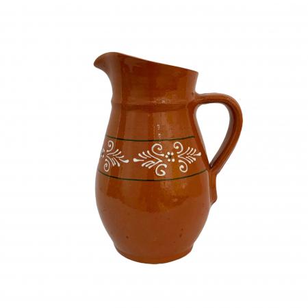 Carafa din ceramica de Arges realizata manual, Argcoms, Vin/Apa, Pictura traditionala