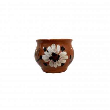 Ceasca din ceramica de Arges realizata manual, Argcoms, Bauturi calde, Pictura florala1