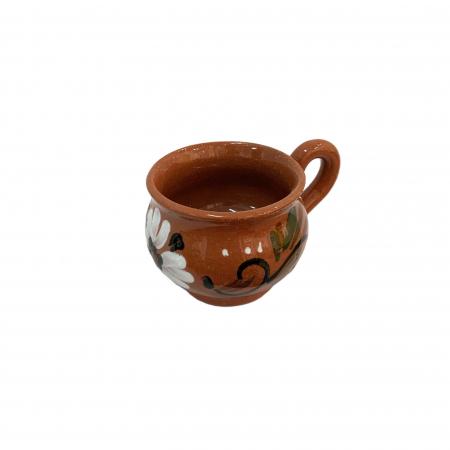 Ceasca din ceramica de Arges realizata manual, Argcoms, Bauturi calde, Pictura florala2