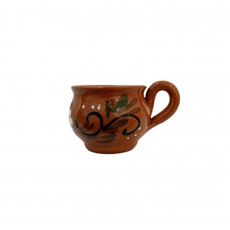 Ceasca din ceramica de Arges realizata manual, Argcoms, Bauturi calde, Pictura florala0
