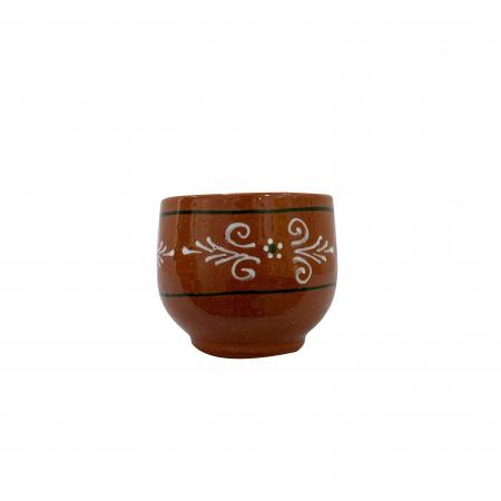 Ceasca din ceramica de Arges realizata manual, Argcoms, Cafea, Pictura traditionala2