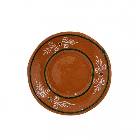Farfurie din ceramica de Arges realizata manual, Argcoms, Ceasca de cafea, Pictura traditionala1