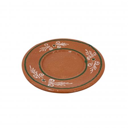 Farfurie din ceramica de Arges realizata manual, Argcoms, Ceasca de cafea, Pictura traditionala