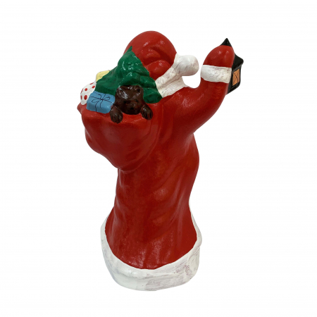 Figurina din ceramica de Arges realizata manual, Argcoms, Mos Craciun (1)2