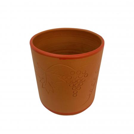 Frapiera din ceramica de Arges realizata manual, Argcoms, Zgrafitata (1)1