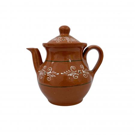 Ibric din ceramica de Arges realizat manual, Argcoms, Cafea, Pictura traditionala0