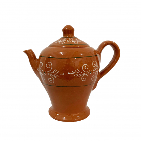 Ibric din ceramica de Arges realizat manual, Argcoms, Ceai, Pictura traditionala