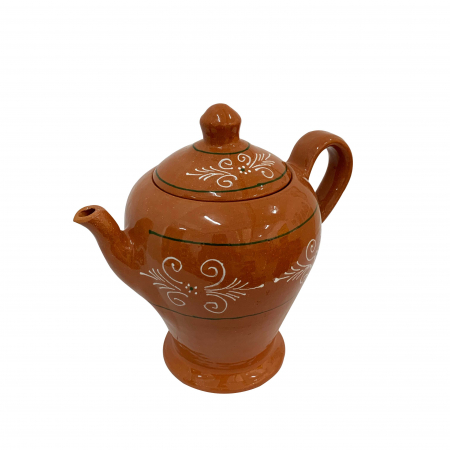 Ibric din ceramica de Arges realizat manual, Argcoms, Ceai, Pictura traditionala1