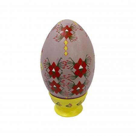 Ou de Paste din ceramica de Arges realizat manual, Argcoms, Motiv traditional, Ø13 cm1