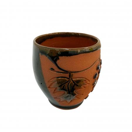 Pahar din ceramica de Arges realizat manual, Argcoms, Vin, Tema viticola1