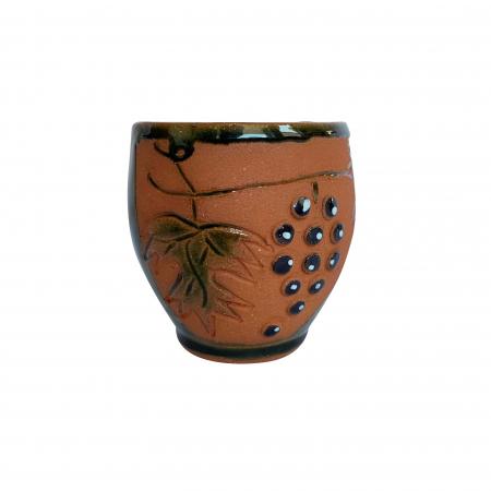 Pahar din ceramica de Arges realizat manual, Argcoms, Vin, Tema viticola3