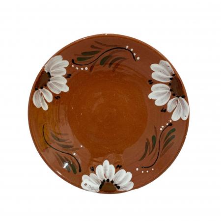 Platou din ceramica de Arges realizat manual, Argcoms, Pictura florala, Mic1