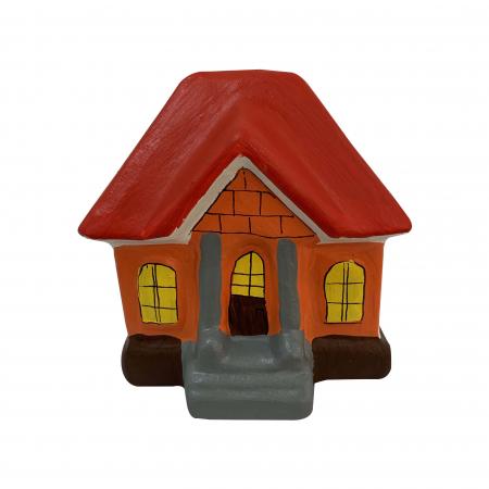Pusculita din ceramica de Arges realizata manual, Argcoms, Casa spiridusului0