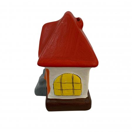 Pusculita din ceramica de Arges realizata manual, Argcoms, Casa spiridusului1