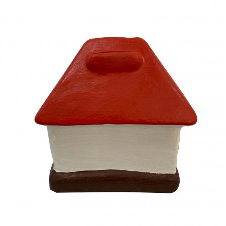Pusculita din ceramica de Arges realizata manual, Argcoms, Casa spiridusului2