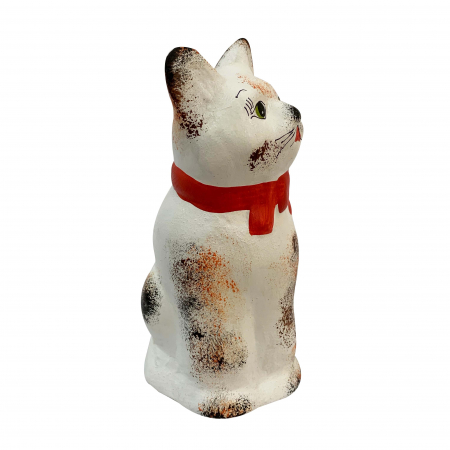 Pusculita din ceramica de Arges realizata manual, Argcoms, Pisicuta2