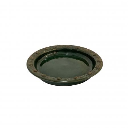 Serviciu de masa pentru 6 persoane din ceramica de Arges realizat manual, Argcoms, 22 bucati/set, Ornament cu bumbi si braduti11