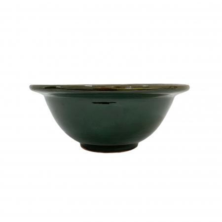 Serviciu de masa pentru 6 persoane din ceramica de Arges realizat manual, Argcoms, 22 bucati/set, Ornament cu bumbi si braduti4