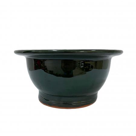Serviciu de masa pentru 6 persoane din ceramica de Arges realizat manual, Argcoms, 22 bucati/set, Ornament cu bumbi si braduti1