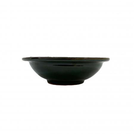 Serviciu de masa pentru 6 persoane din ceramica de Arges realizat manual, Argcoms, 22 bucati/set, Ornament cu bumbi si braduti7