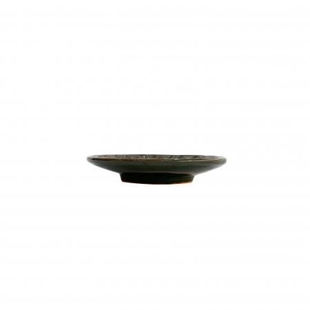 Serviciu de masa pentru 6 persoane din ceramica de Arges realizat manual, Argcoms, 22 bucati/set, Ornament cu bumbi si braduti15